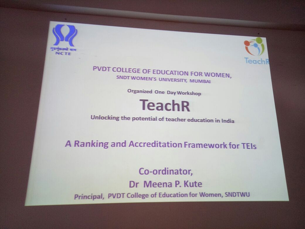TeachR - One Day Workshop on Unlocking the Potential of Teacher education in India